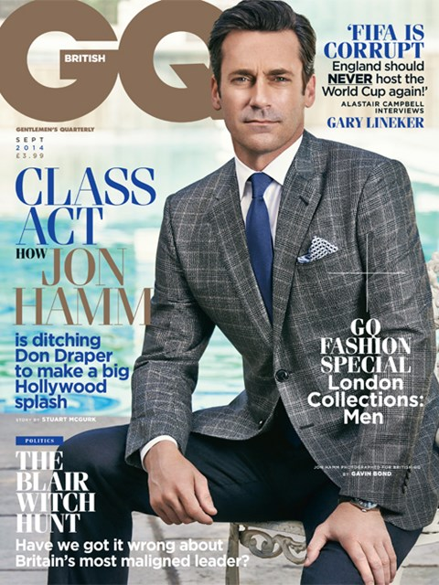 #GQ UK September 2014 : #actor Jon Hamm (Jonathan Daniel Hamm) by Gavin Bond.