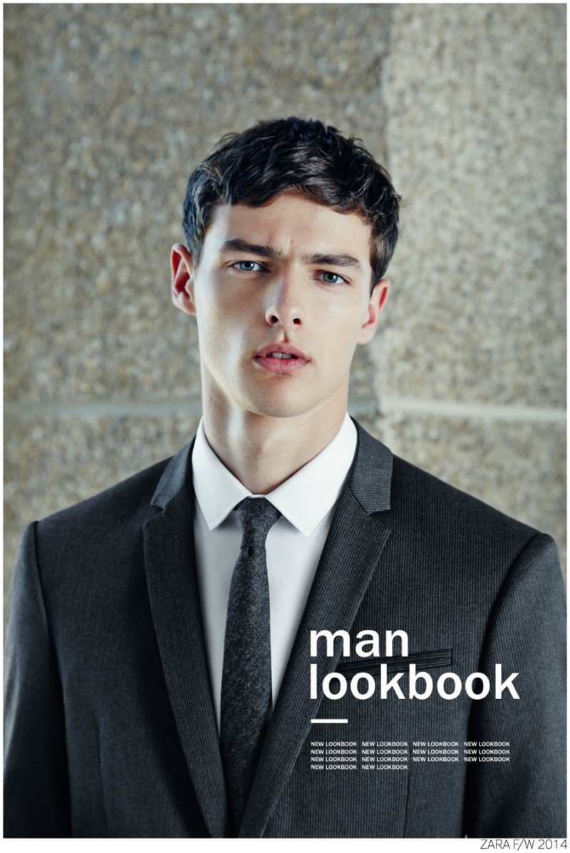 Spanish label Zara releases its September 2014 look book, which features models Hannes Gobeyn and Alexandre Cunha. Providing a smart look at the season, Zara focuses on tailored styles with a slim fit. Among a strong lineup are navy and charcoal suits that are ideal with a pair of leather oxfords or contemporary trainers. Refining its idea of 'new casual', essentials such as basic pants and jackets are reworked in leather for an urban edge. Meanwhile, choice accessories such as backpacks with modern details are provided for the stylish man on the go.