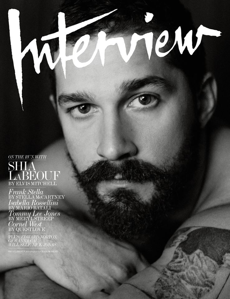 "As it turns out, Shia LaBeouf isn't a full-on insane person -- he's just what happens when that annoyingly pretentious guy that you hated/dated in college gets famous. In a surprisingly earnest -- but no less maddening -- conversation with Interview magazine, the troubling actor hits all of the ""White Guy Who Majored in [Humanities/Liberal Arts]"" milestones. Smoking a cigarette, shirtless, Shia LaBeouf rattles off his Troubled White Guy Antiheroes that he looks up to, including Sean Penn, actual crazy guy Mel Gibson, and fellow pseudo-performance artist Joaquin Phoenix. LaBeouf also mentions and explains all the iterations of modernism that he has at one point subscribed to (post-, meta-), name-checks his existential crisis and subsequent coming to God, and discusses ""tripping on drugs"" and finding himself as he struggles to become an adult. The method actor also talks about how reading about performance art totally changed his life, for better or worse, and blames the avant-garde poet Kenneth Goldsmith for his penchant for plagiarizing -- or as he would call it, ""uncreative writing."""