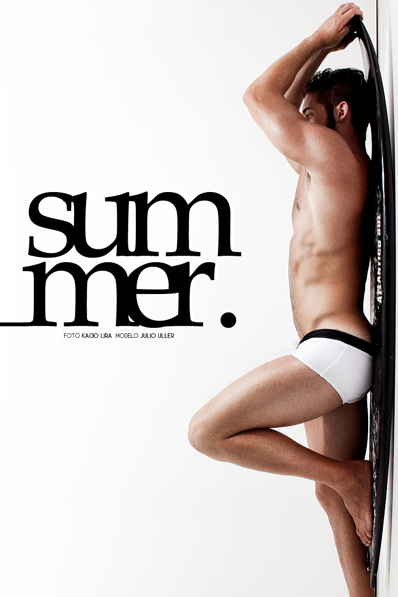 """Julio Uller, the DF MODEL agency, the """"Summer"""" test, photographed by Kacio Lira in Joinville, Santa Catarina."""