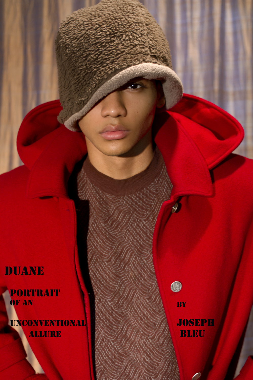 Take a look of the recent work by fashion photographer Joseph Bleu with male model Duane Moreno of Soul Artist Management in Duane Portrait of an Unconventional Allure styling by Monkey, hair by Juan @ Extravagant, Skin www.matthewmillerskin.com and graphics by Ducky.