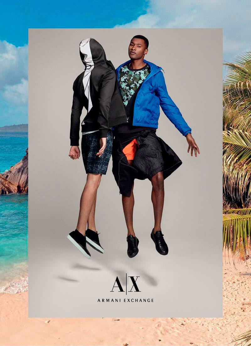 Jourdan Copeland and Luca Jamal front the Spring/Summer 2015 campaign of Armani Exchange, shot by Cass Bird and styled by Heathermary Jackson.