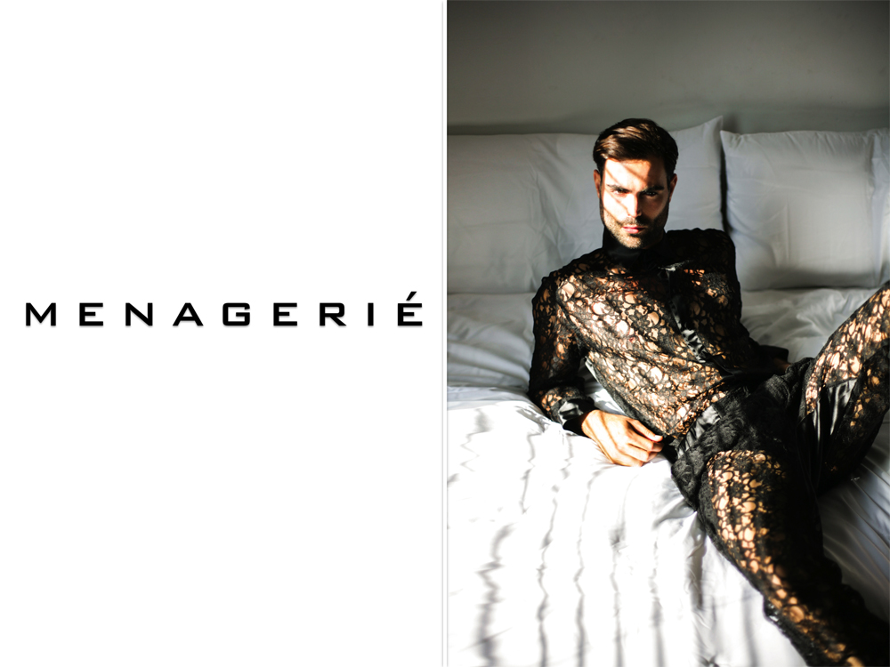 MENAGERIÉ introduces a new era of male intimates and loungewear that combines masculine styling with fabrics traditionally reserved only for the most elegant ladies' underwear. Providing a unique collection of lingerie exclusively for men.