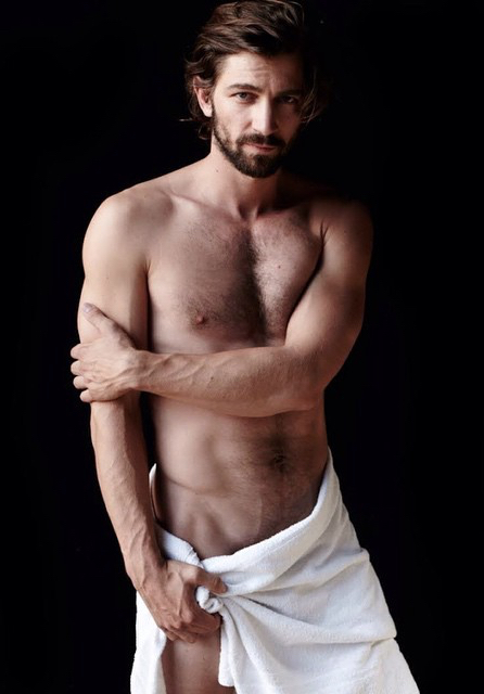 Fashion photographer Mario Testino continues his popular Towel Series, incorporating actors into the mix. Going nude for Testino's lense, Evandro Soldati, Caua Reymond, Romulo Neto and Michiel Huisman clutch on to their white towels for fearless images.