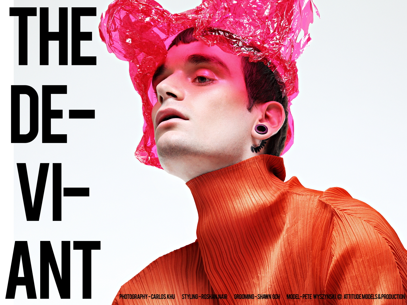 """""""The Deviant"""" artist photographer Carlos Khu presents his new work with us, starring by model Pete Wyszyński from Attitude Models & Production. Superb set photography, fashionable garments, originality and professional work this could not do it without styling by Roshan Nair, grooming by Shawn Goh."""
