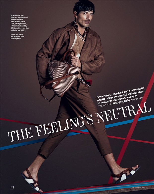 Financial Times How to spend it March 2015 The Feeling's Neutral Photographer: Andrew Yee. Stylist: Damian Foxe. Hair: Roku Roppongi. Makeup: Marco Antonio.