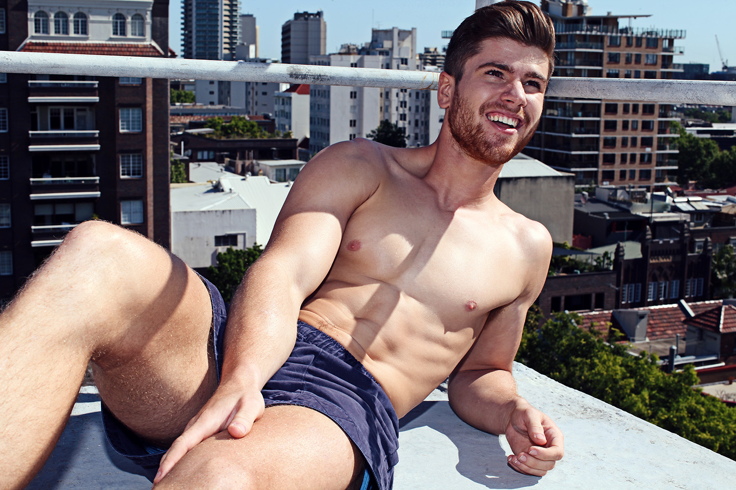 Ginger stunner Matt Jesaveluk is here gain charming our screens, shot by Karim Konrad in an exclusive for Fashionably Male. Including fresh snaps with natural sun light, the beauty Aussie model posing shirtless with shorts and convers.