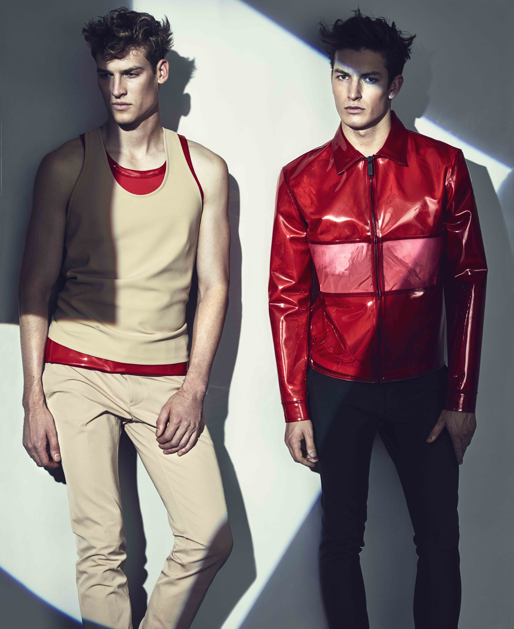Fashion story inspired by 2015 by Mikael Schulz & Fashion Matt Bidgoli with models Joel Meacock @IMG& Oli Lacey @Re:Quest for ODDA 8 Decades issue.
