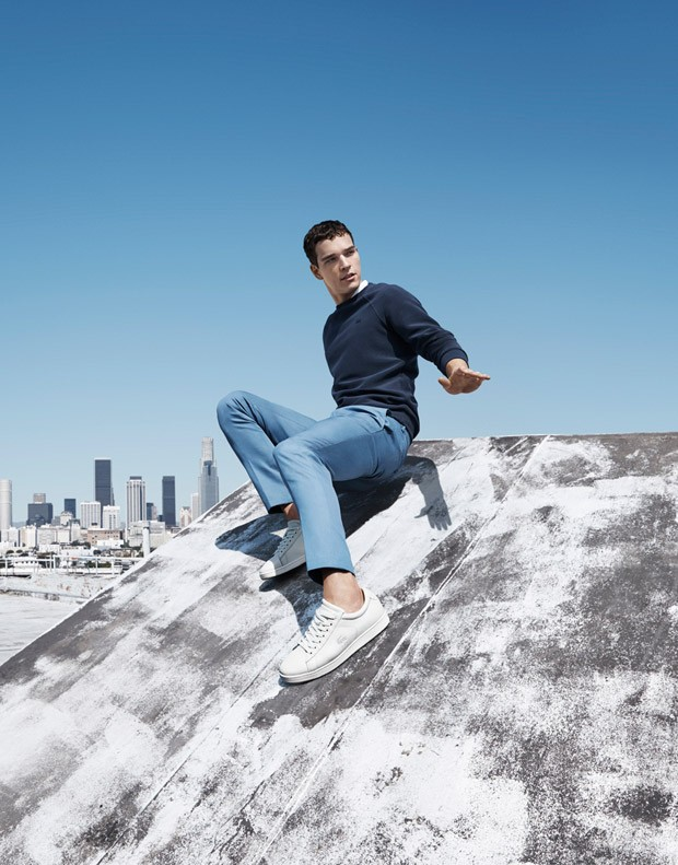Lacoste reveals its Spring/Summer 2015 starred by Alexandre Cunha, like we have seen him before, ad shoots by photographer Jacob Sutton.