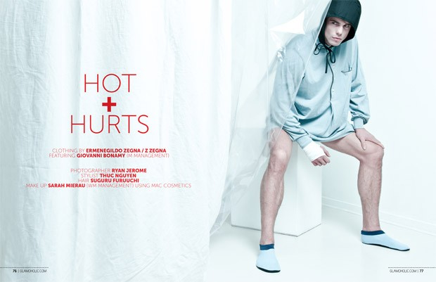 Glamoholic Magazine Hot + Hurts Photographer: Ryan Jerome. Stylist: Thuc Nguyen. Hair: Suguru Furuuchi. Make-up: Sarah Mierau.