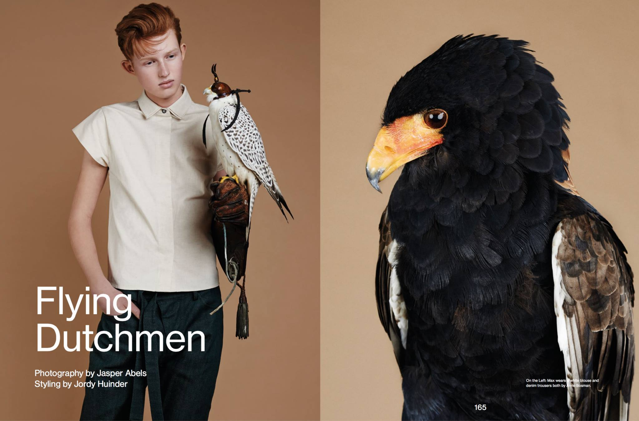 FLYING DUTCHMEN // Prestage Magazine captured a beautiful editorial Jasper Abels inspirational edition with beautiful birds, stylist: Jordy Huinder. Models Max Frentz and Sebastian Gelton at Brooks Modeling Agency, Luc van Geffen at Republic Men, Jordy Gerritsma at Alpha Male Model Management, William Los, Sam Lammas and Johannes Spaas at Ulla Models.