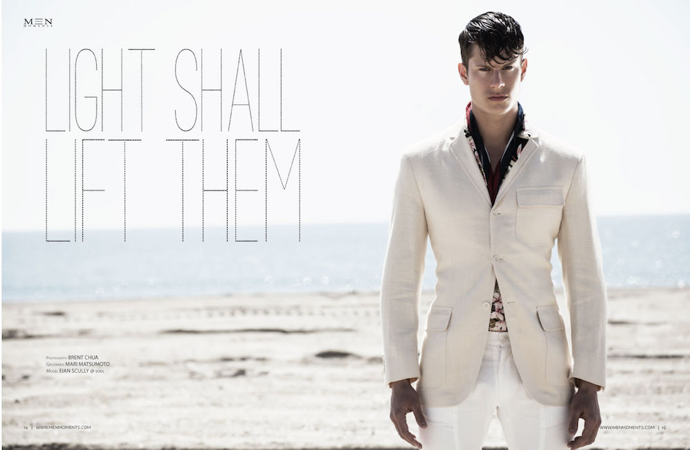 """Light Shall Lift Them"" photography by Brent Chua, styled by Mari Matsumoto and spotlight Soul Artist Model Eian Scully."