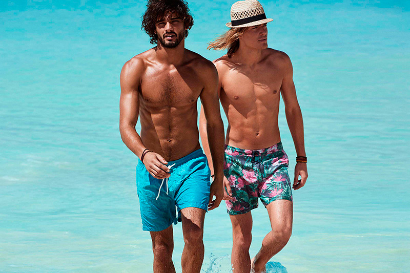 Runway Top model Marlon Teixeira and Ton Heukels goes into a beach paradise to star the new H&M Beachwear S/S 2015 Campaign.
