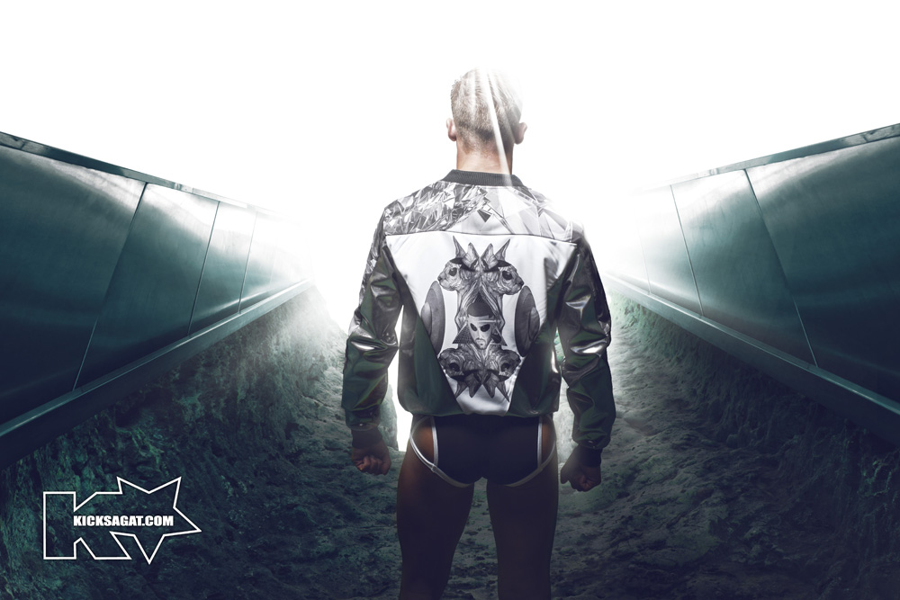 """continues to blur the lines of fantasy and reality with its new campaign. The Fashion line's latest collection, debuting exclusively on out.com, looks to the future of design and the brand. For the first time François Sagat does not appear in the catalog. letting model James Gauding lead consumers on an intergalactic journey. """"The Collection is composed of technical fabrics with anatomic cutouts piloting you through the day and generating your must unexpected performances,"""" photographer Franck Glenisson says of the galaxy line. Gaudiness journey into another universe will made available on kicksagat.com in July and the underwear is now available."""