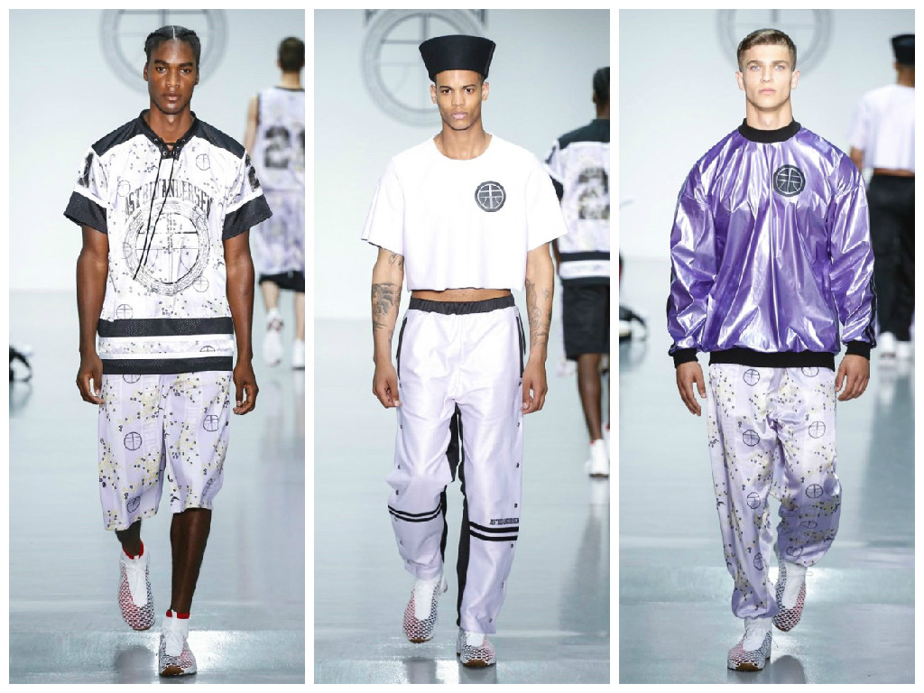 "According to Danish-born designer Astrid Andersen, present day street culture is a universal language. Her collection, set against the heady back alleys of the Shanghai metropolis and the hip-hop beats of Harlem, amplifies this borderless appeal. Andersen's Spring/Summer 16 collection is a whirlwind of cultural references – both urban and ethnic – melded into one monolithic offer that could only be described as ""sensitive thug."" Oversized basketball silhouettes blended with delicate Chantilly lace; the once hyper-masculine hip-hop infused male is finally baring his soft spot."