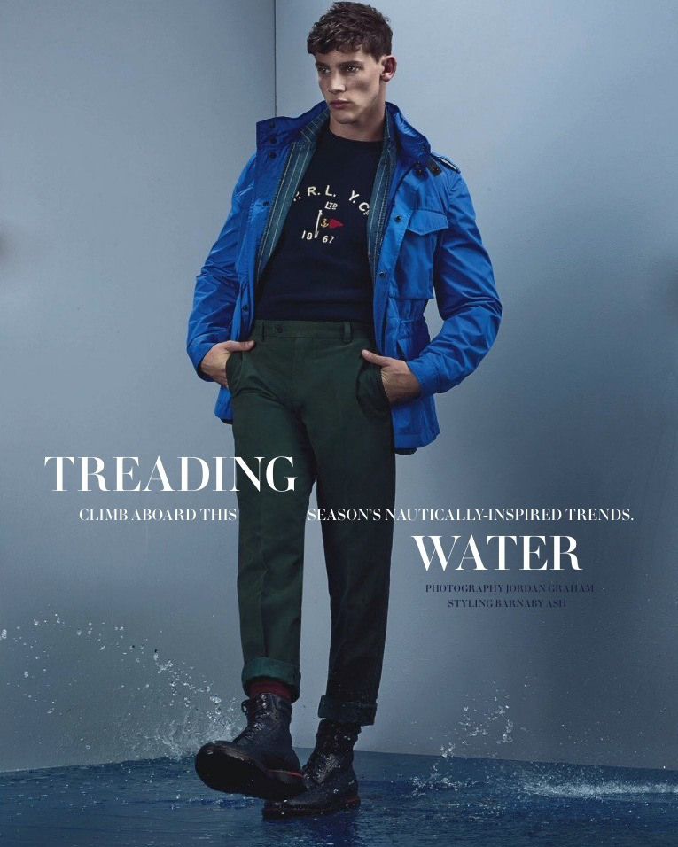Models Tom Barker and Brent land on the pages of the June issue of GQ Australia, starring in a nautical themed editorial, lensed by photographer Jordan Graham.