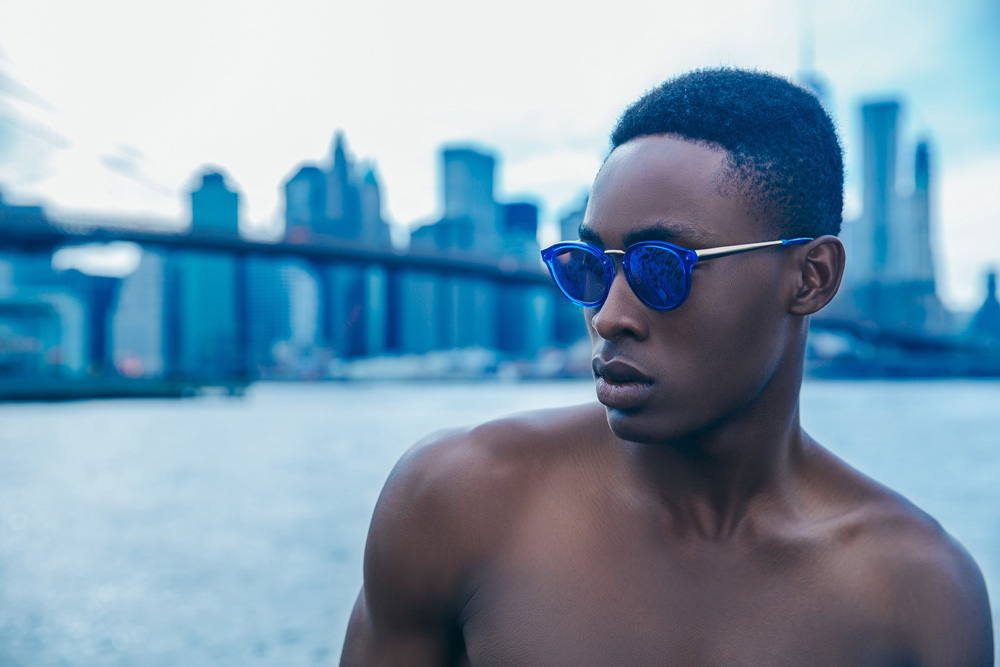 "Menswear blogger & stylist Jorge Gallegos teamed up with photographer Ignis Terram, to capture male model Jide True Alao in the story ""Indigo Summer"". The whimsical and bright editorial celebrates the end of summer."