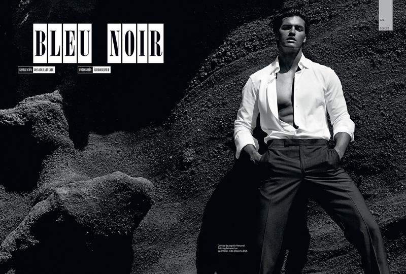"""The AMAZING Matthew Terry in new cover for GQ España. Starring """"Blue Noir"""" a stunning work shot by Álvaro Beamud Cortés and styled by Joana de la Fuente."""