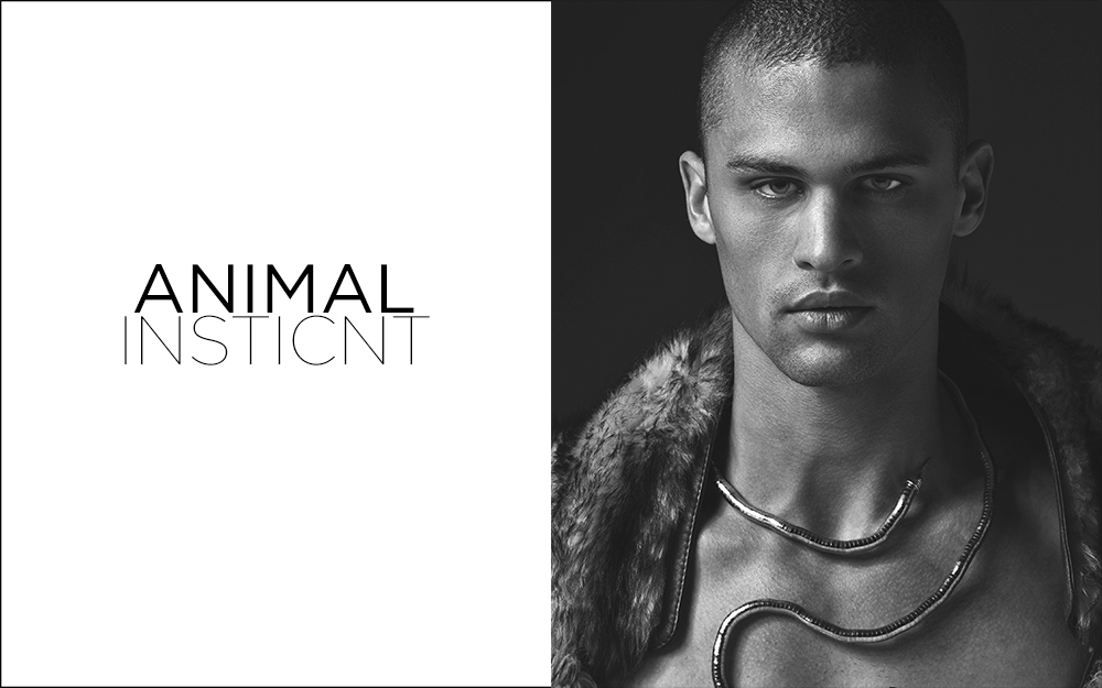 "It's been a while since last project of Lagaret is exposed in Fashionably Male, but we nbring this exclusive new project entitled ""Animal Instinct"" with stunning male model Seth Martin dashing all over the place, he's from Fusion Models. Styling by Mike Stallings."