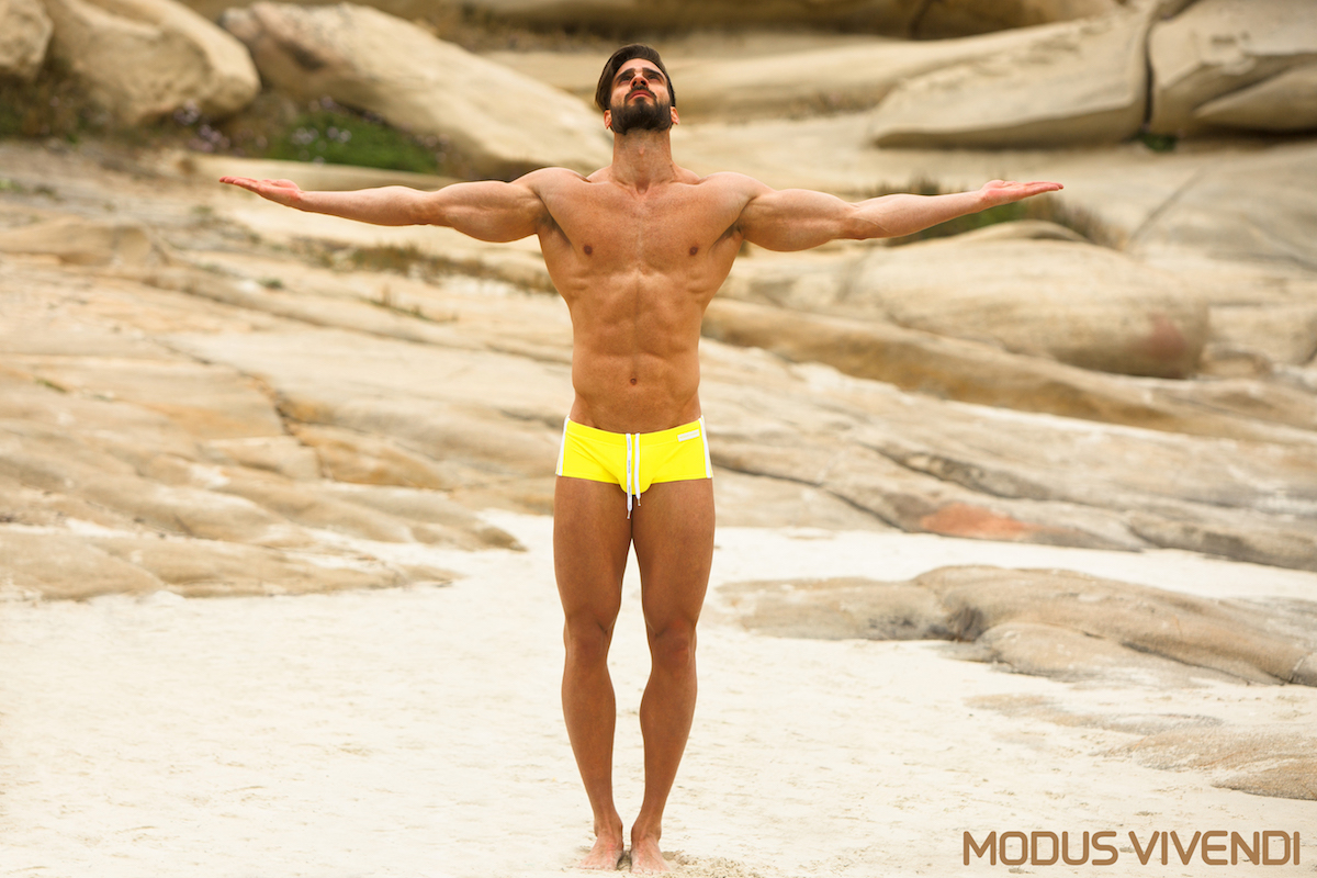 With one more new line of men's swimwear, Modus Vivendi, continues the presentation of its extensive swimwear collection for 2016. This line is the Neon Athletic comprising swim briefs and swim trunks in sporty cuts and vibrant colours. Neon yellow, fuchsia or aqua blue are perfectly combined with white stripes and retro styling offering a modern take on classic swimwear style for men.