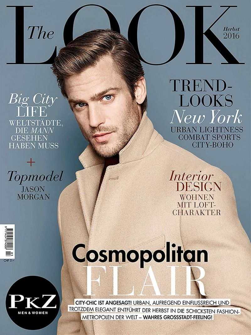 "American model Jason Morgan covers the Fall issue of ""The Look"" Magazine and stars in its cover story shot by fashion photographer Marcel Gonzaelz-Ortizwith with British model Tom Warren. The two models wear a selection of pieces from the latest collections of notable labels put together by stylist Kathrin Zobel."