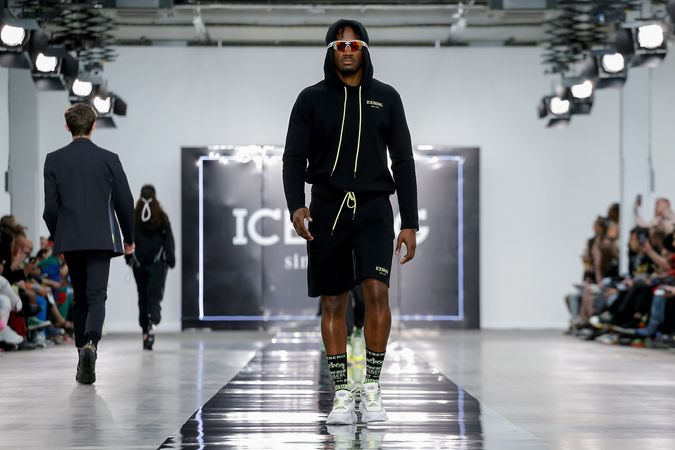 5dc22bdc683 James Long's spring 2020 collection for Iceberg was a loud, colorful  concoction of all that is fun and trending.