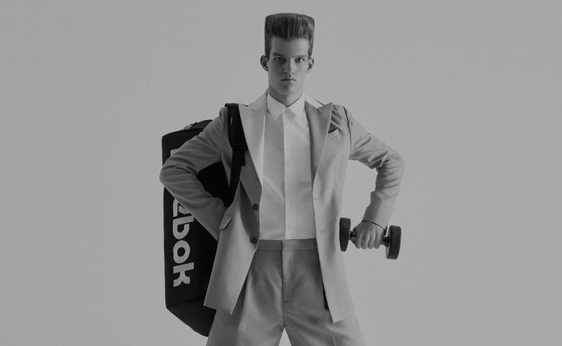 """""""Jim at Gym"""" work by Jumbo Tsui for WSJ Magazine Cover"""