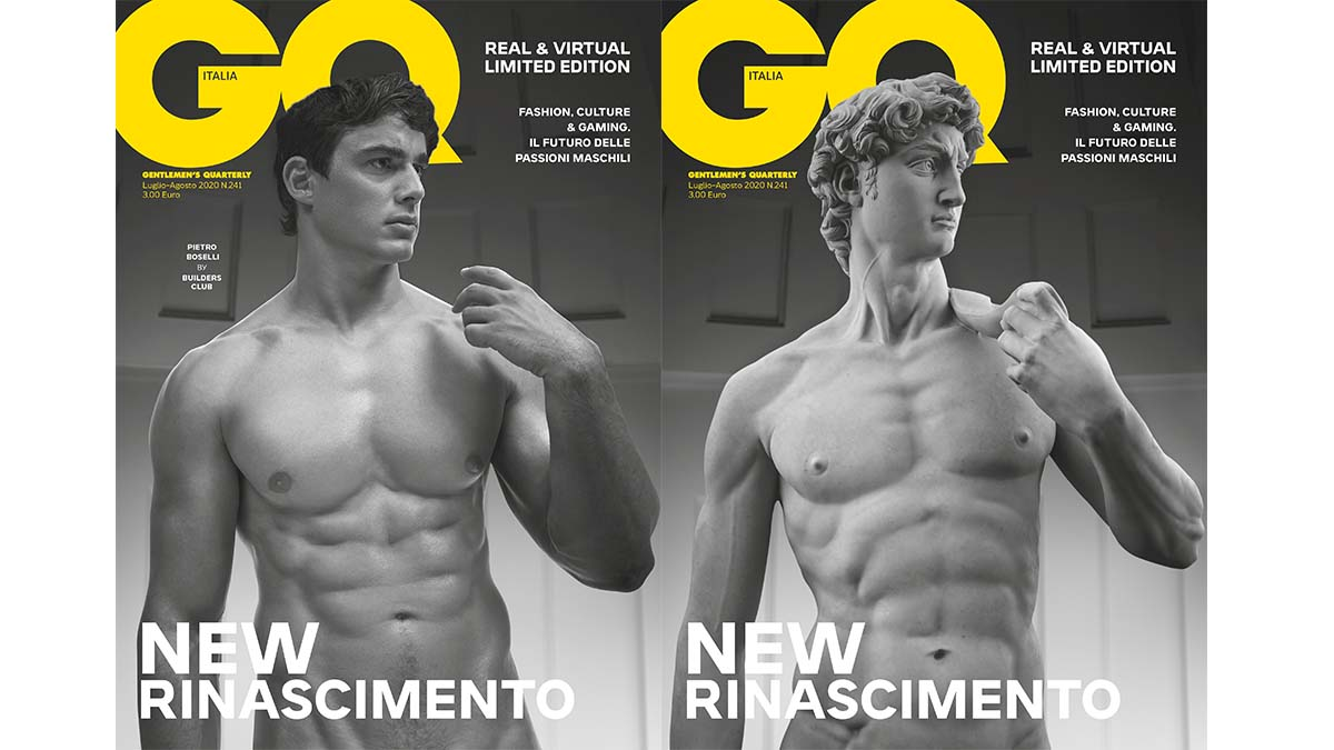 fashion shooting of the month, the first in 3D for a magazine. Pietro interprets the new David by #michelangelo in the issue #GQnewrinascimento, on newsstands