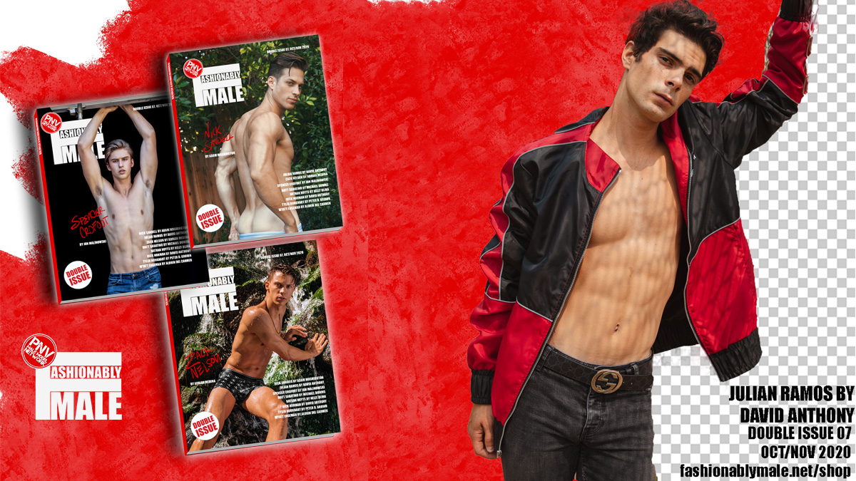 Julian Ramos for PnVFashionablymale Magazine Issue 07 OctNov 2020 cover
